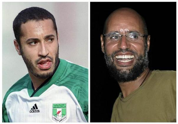 Combination picture of Muammar Gaddafi's sons Saadi (L) and Saif al-Islam, published in 2011.  REUTERS/Staff