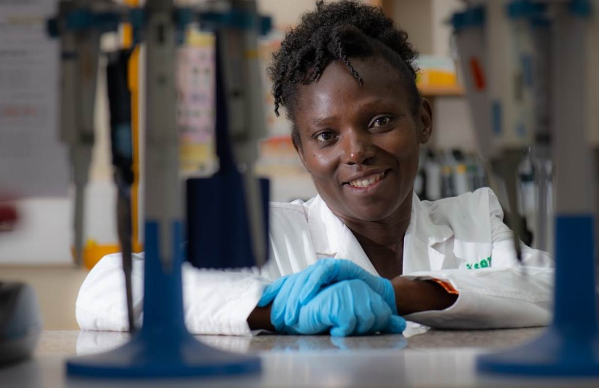 ICRISAT's Dr Damaris Odeny is the principal investigator of a three-year finger millet pre-breeding project and focuses on genotyping finger millet samples. Supplied: Michael Major/Crop Trust