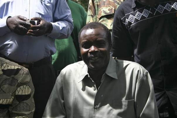 This 2008 photo shows Lord Resistance Army's (LRA) Major General Joseph Kony at peace negotiations between the LRA and Ugandan religious and cultural leaders in Ri-Kwangba, southern Sudan. REUTERS/Africa24 Media