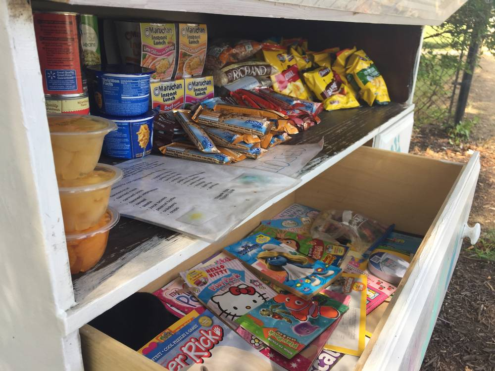 Promise of an empty box: Mini-pantries bring free food, solidarity to U.S. streets