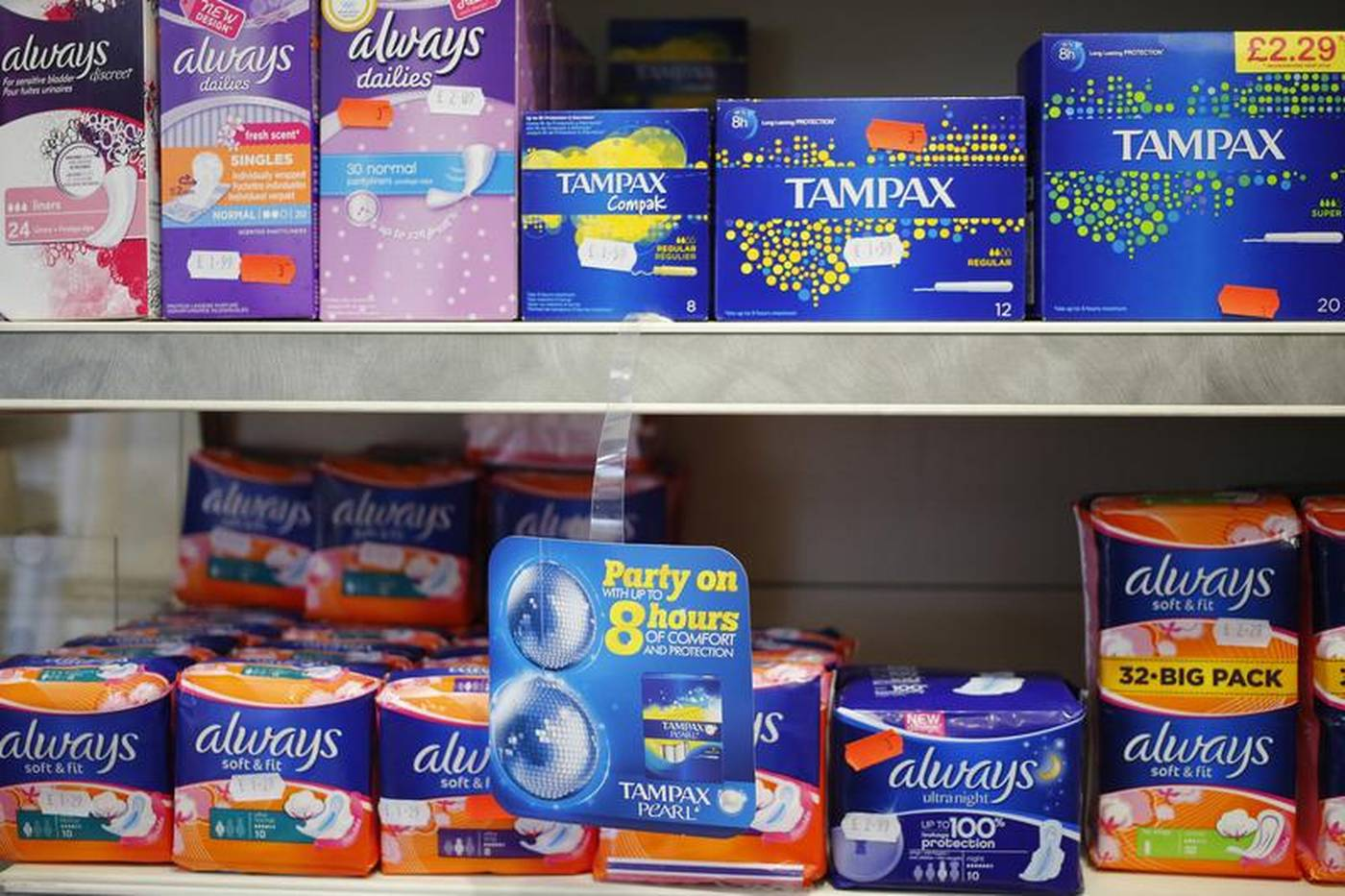 UK to offer free sanitary products to primary school pupils
