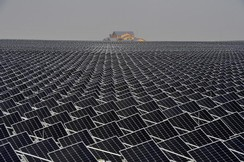 Solar panels are seen in Yinchuan, Ningxia Hui Autonomous Region, China