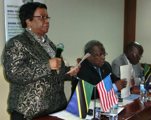 Tanzanian Ethics Secretariat Commissioner Salome Kaganda speaking at a seminar organised by the government in collaboration with the embassy of the United States. Photo By Mwanakombo Jumaa/MAELEZO