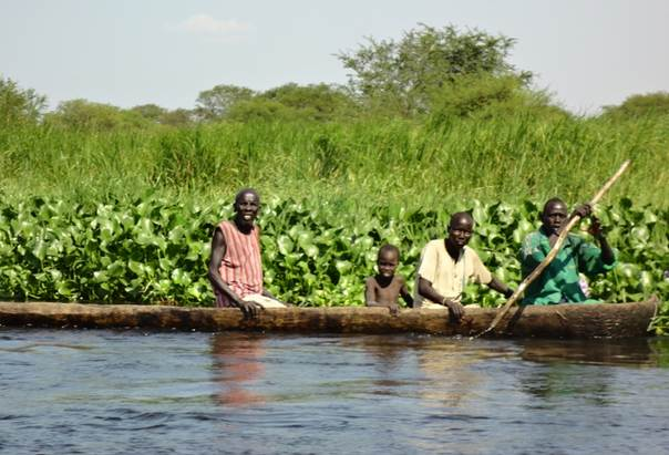 Contributing to increased travel time to health centres, the main mode of transport between cities in South Sudan is wooden boat. PHOTO/Dia-Eldin Elnaiem