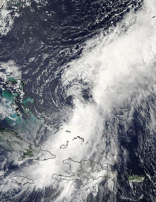 Hurricane Cristobal is pictured over the Bahamas in this Aug. 25, 2014 NASA satellite handout photo. REUTERS/NASA/Handout via Reuters