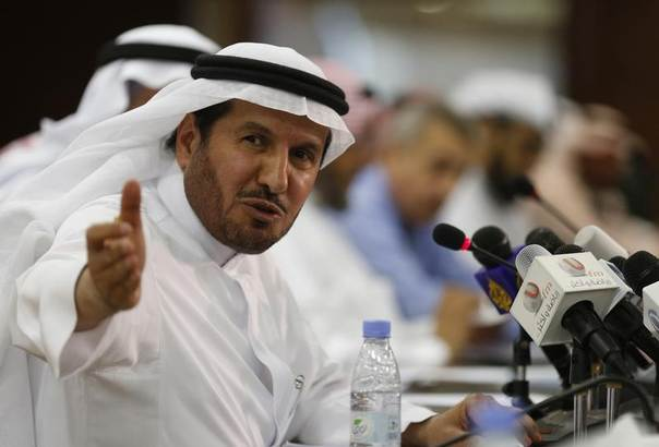 Former Saudi Health Minister Abdullah al-Rabeeah gestures during a news conference in Riyadh, April 20, 2014. REUTERS/Faisal Al Nasser
